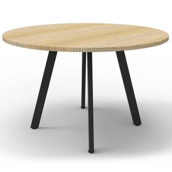 round timber meeting table