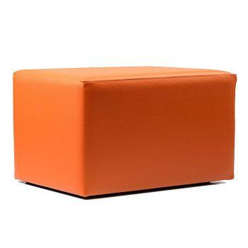 Orange rectangular ottoman