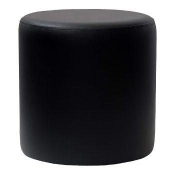 Round Black Ottoman