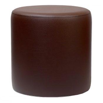 Round Brown Ottoman