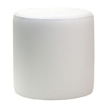 Round White Ottoman