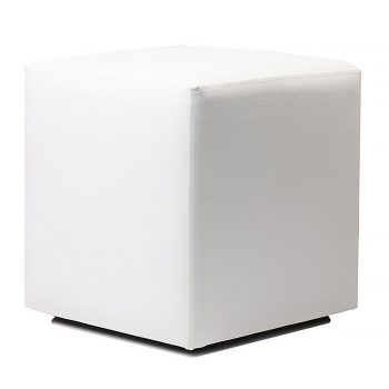 Square white ottoman